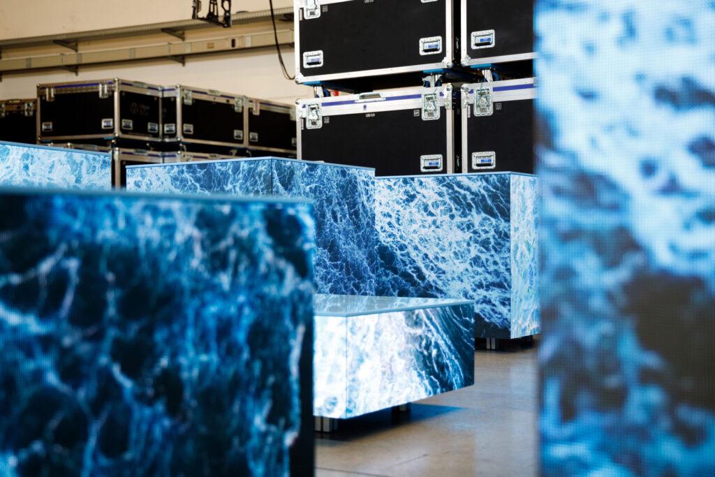 Cubi Video Led di Wav&Co ad angolo vivo di 90°