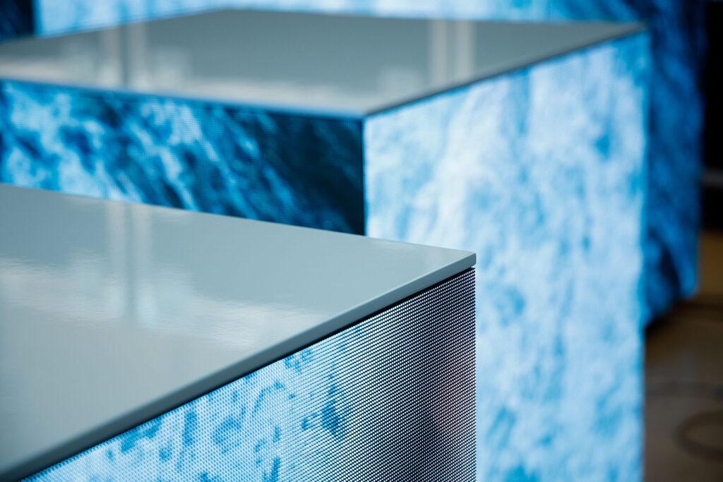 Cubi Video Led di Wave&Co visibili durante gli Open Days di SPAZIO