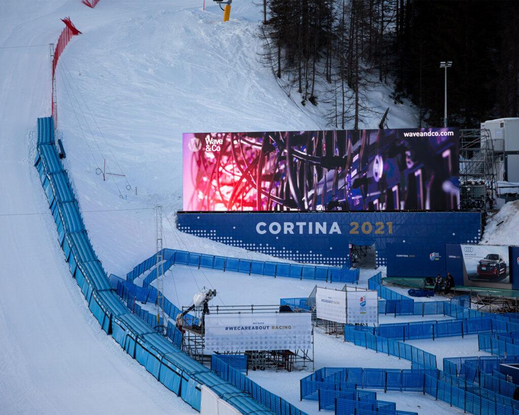 Mondiali di Sci Alpino Cortina 2021 - Maxischermo Rumerlo by Wave&Co