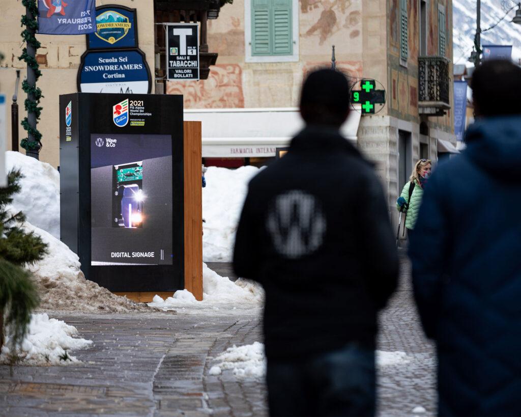 Mondiali di Sci Alpino Cortina 2021 - Totem LED Multimediali by Wave&Co