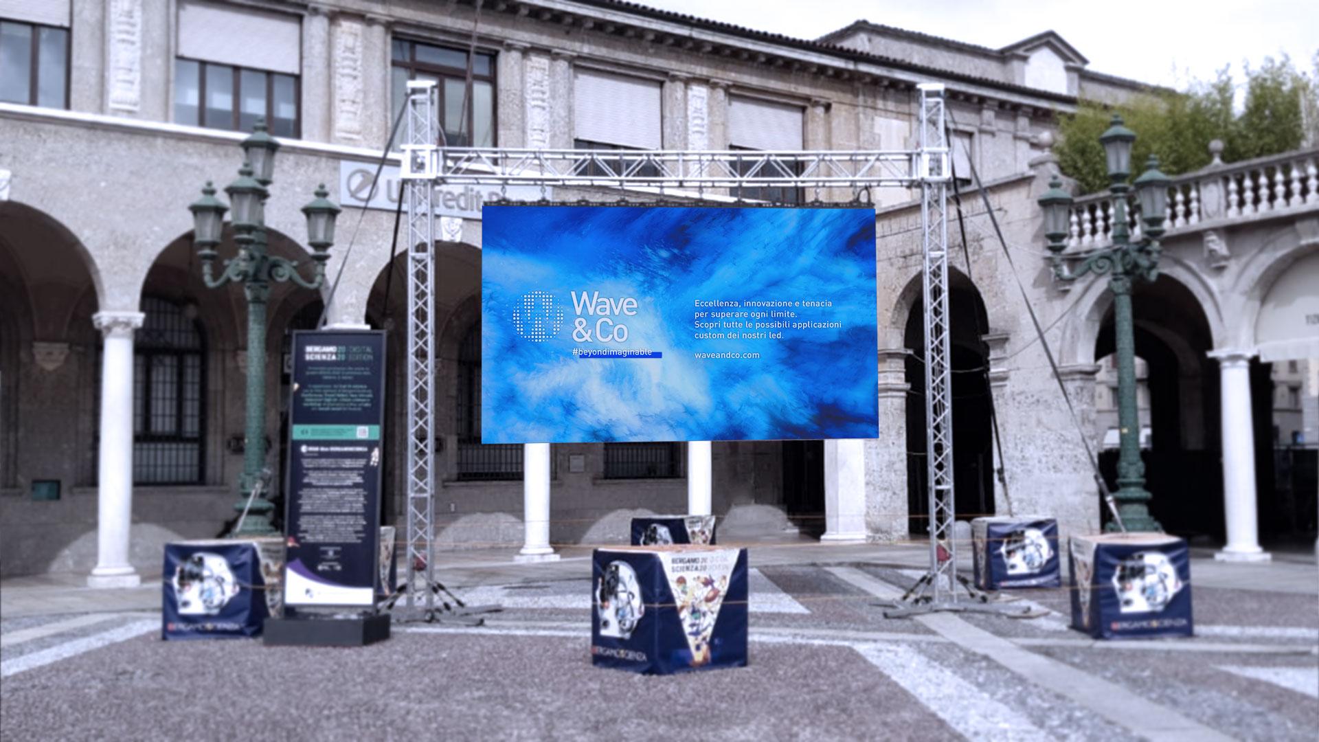 Bergamo Scienza 2020 sceglie Wave&Co come sponsor tecnico per i ledwall modulari