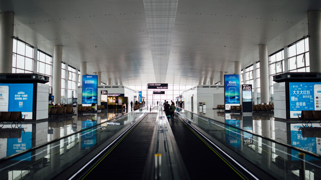 Digital signage per aeroporti
